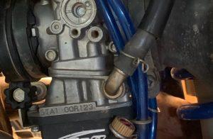 why does my dirt bike leak gas