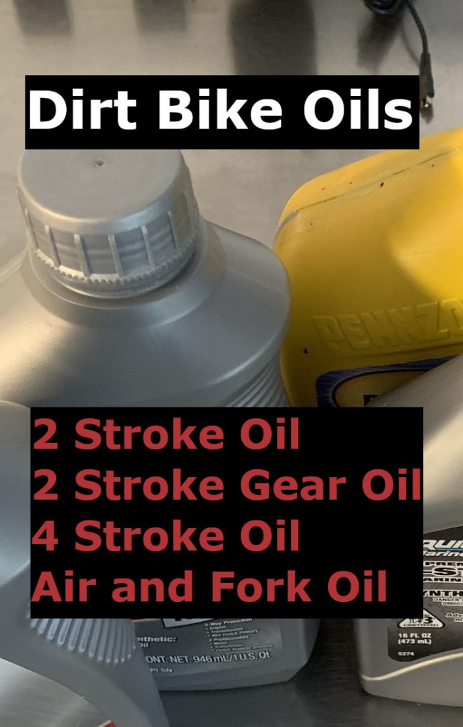 dirt bike oil infographic