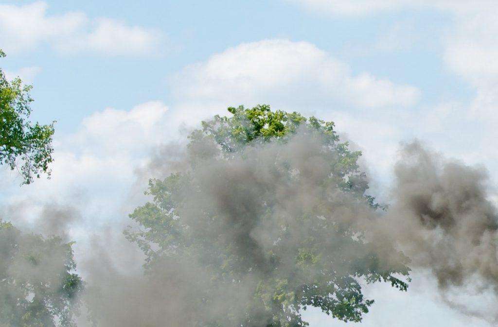 dirt bike smoke