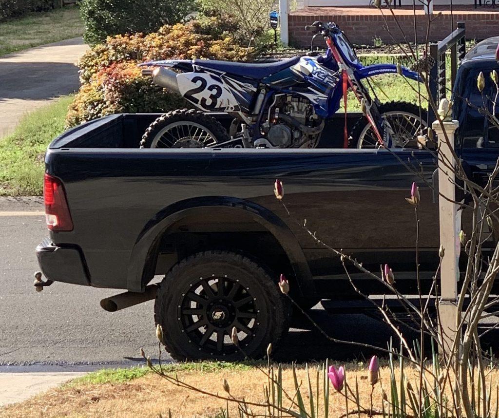 secure a dirt bike